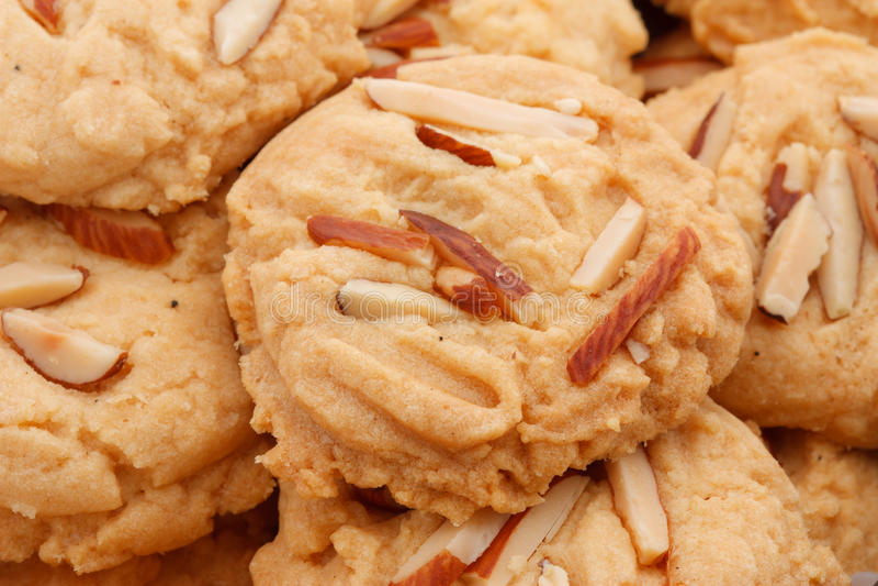 Biscoitos com porcas foto de stock royalty free