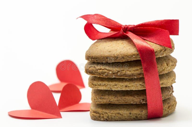 biscoitos Coração-dados fôrma foto de stock royalty free