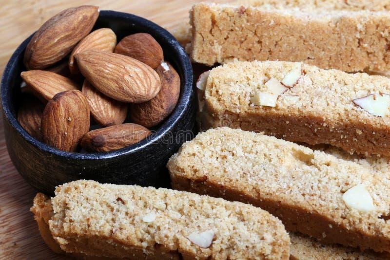 Biscoitos da amêndoa foto de stock
