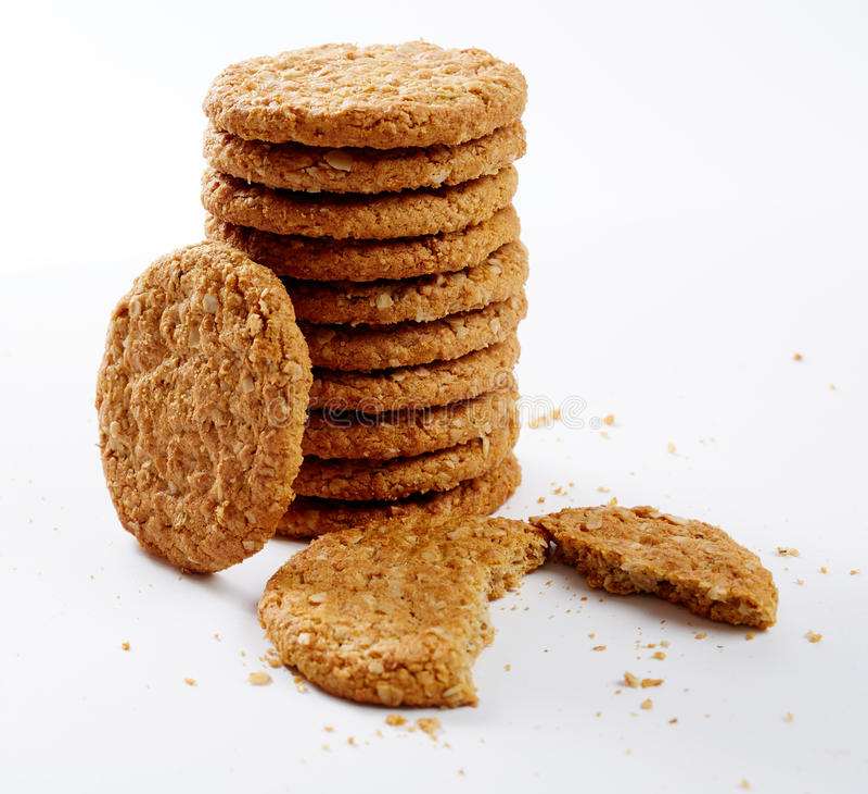 Biscoitos da aveia imagem de stock