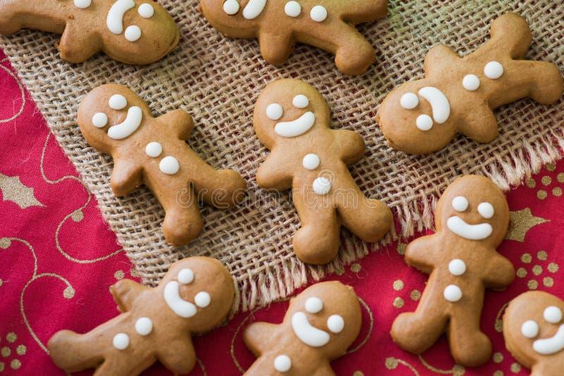 Biscoitos da cookie do pão-de-espécie, múltiplos, Natal fotografia de stock royalty free
