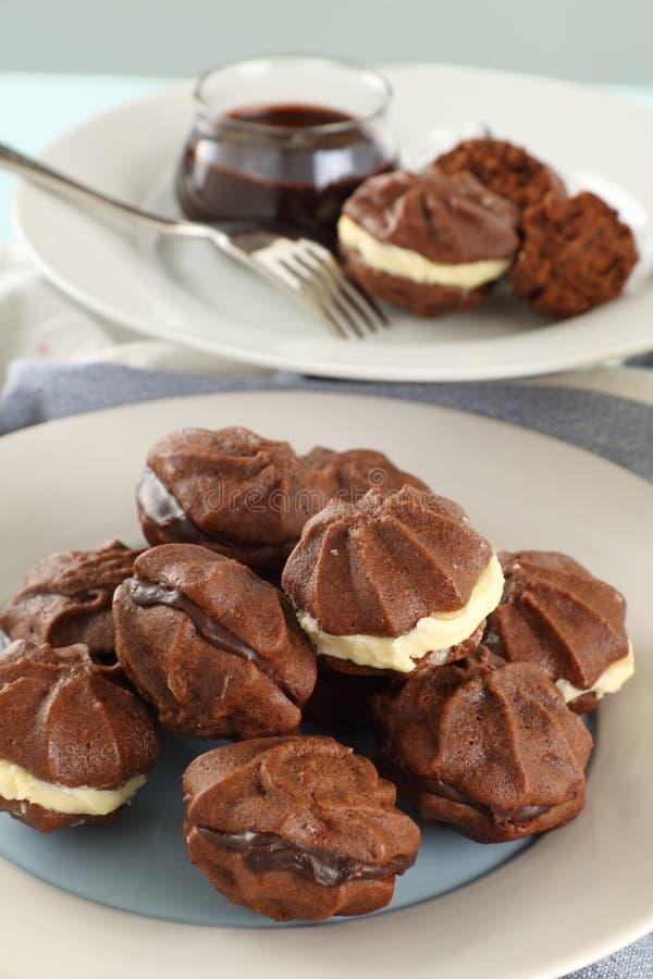 Biscoitos da estrela de Chcoclate fotos de stock