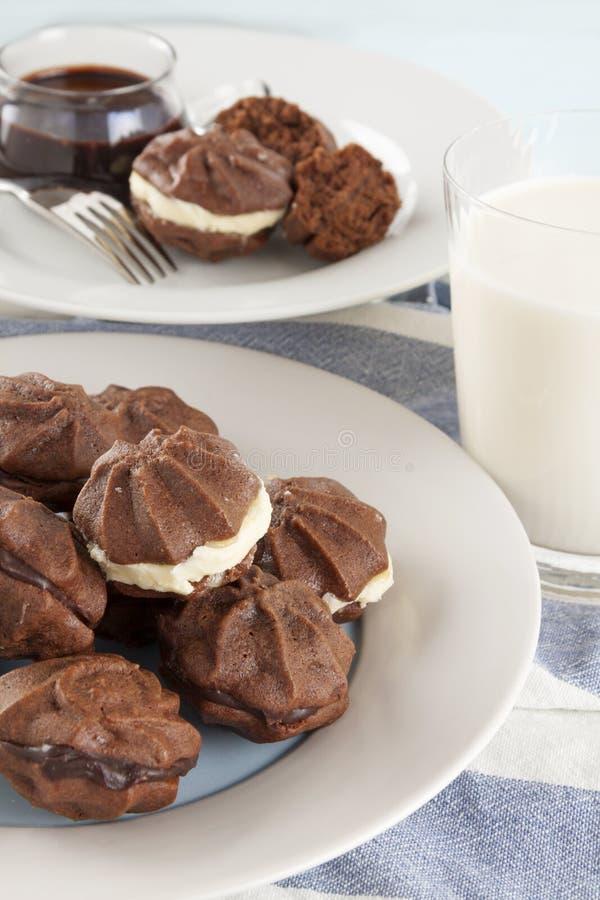 Biscoitos da estrela do chocolate foto de stock