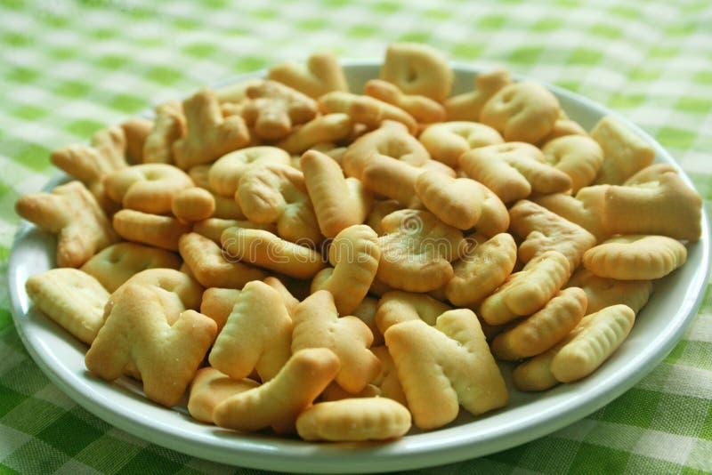 Biscoitos das cookies do alfabeto foto de stock royalty free