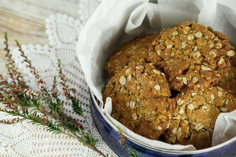 Biscoitos de Anzac fotografia de stock royalty free