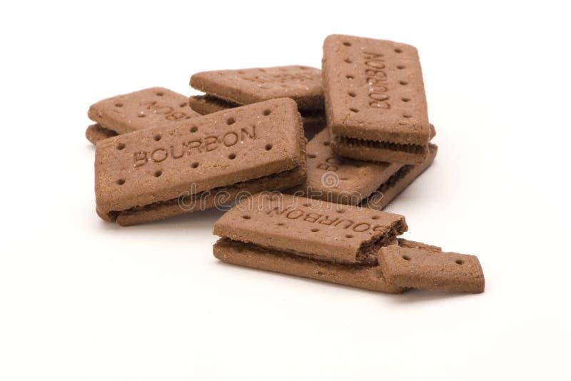 Biscoitos de Bourbon imagens de stock royalty free