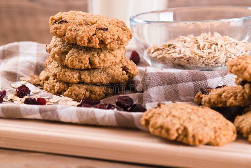 Biscoitos de farinha de aveia foto de stock royalty free