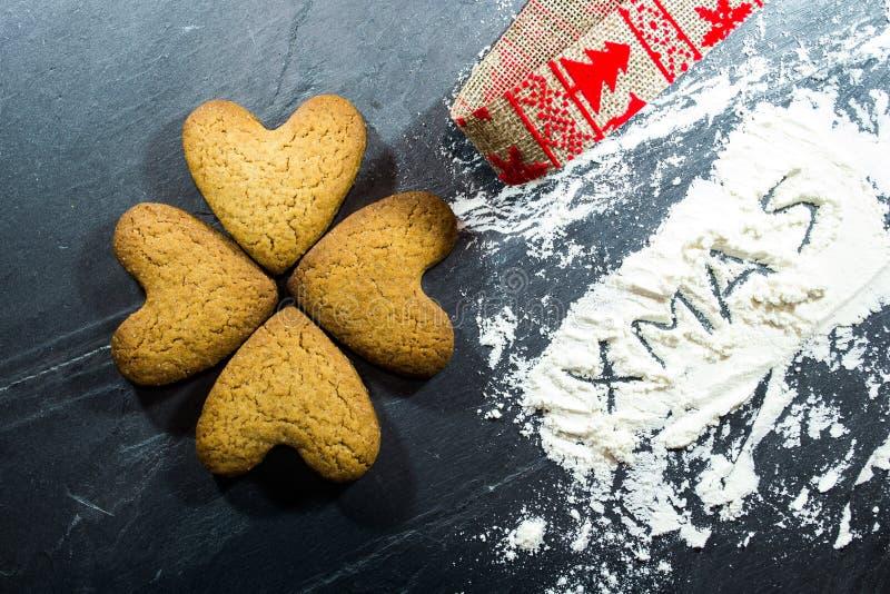 Biscoitos de pão-de-gengibre imagens de stock