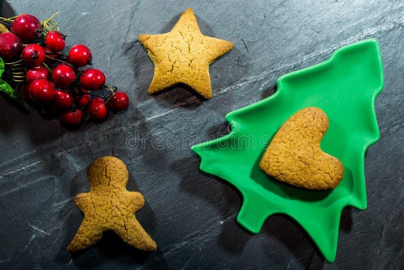 Biscoitos de pão-de-gengibre fotografia de stock