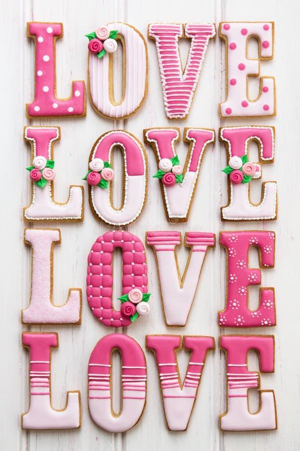 Biscoitos do amor fotografia de stock