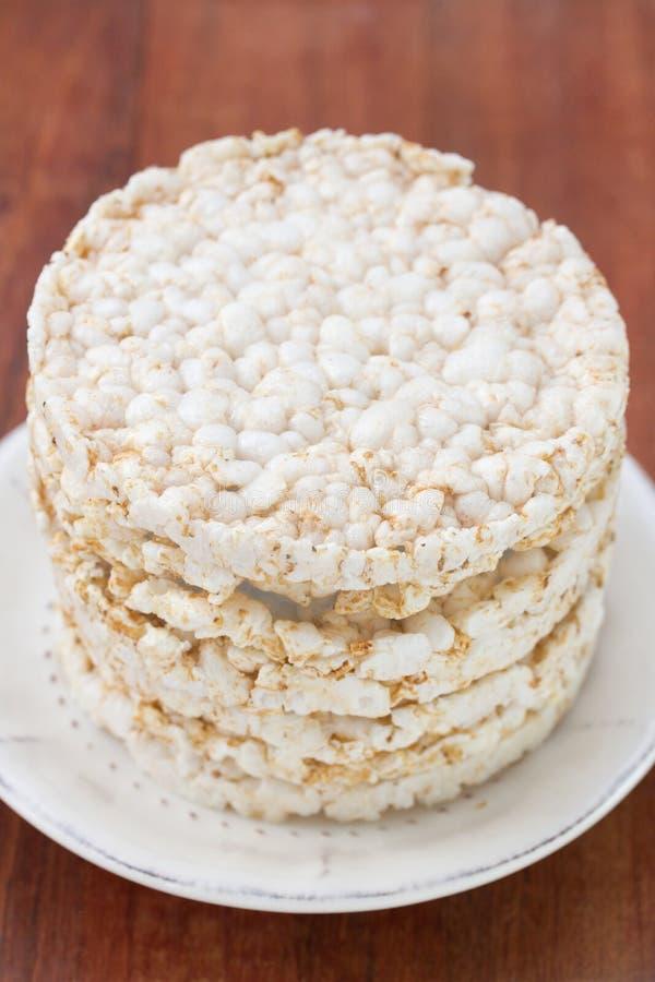 Biscoitos do arroz fotografia de stock