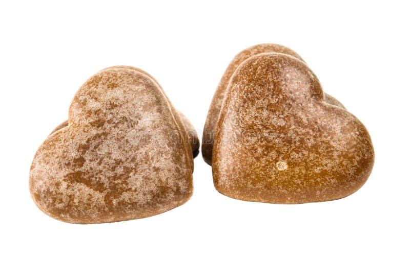 Download Biscoitos Do Coração Isolados Imagem de Stock - Imagem de spice, amor: 29829303