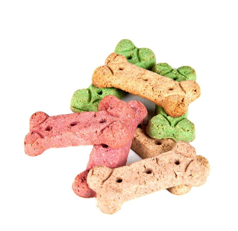 Biscoitos do deleite do cão, isolados imagem de stock royalty free