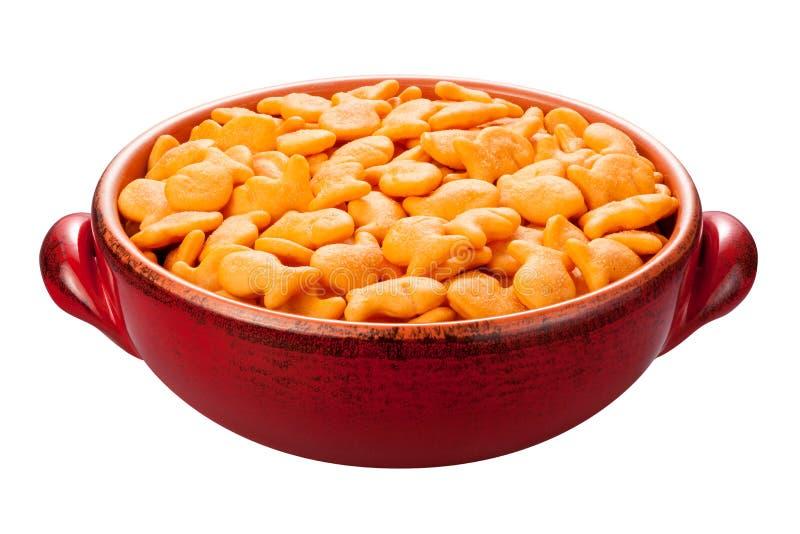 Biscoitos do peixe dourado isolados imagens de stock royalty free