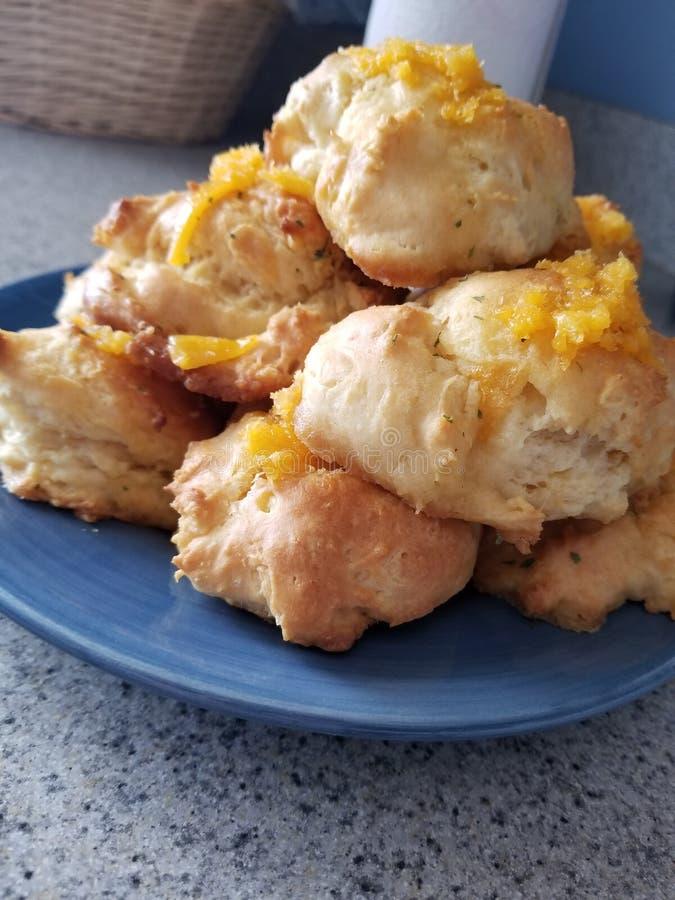 Biscoitos do queijo Cheddar imagem de stock