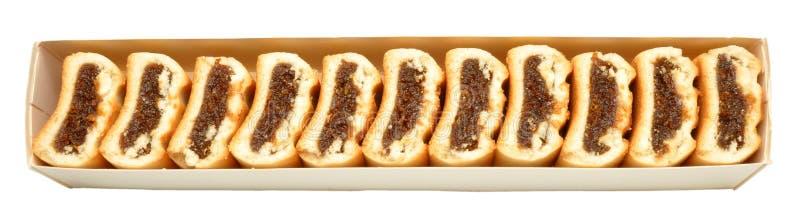 Biscoitos do rolo do figo imagens de stock royalty free