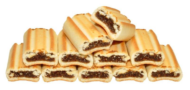 Biscoitos do rolo do figo foto de stock royalty free