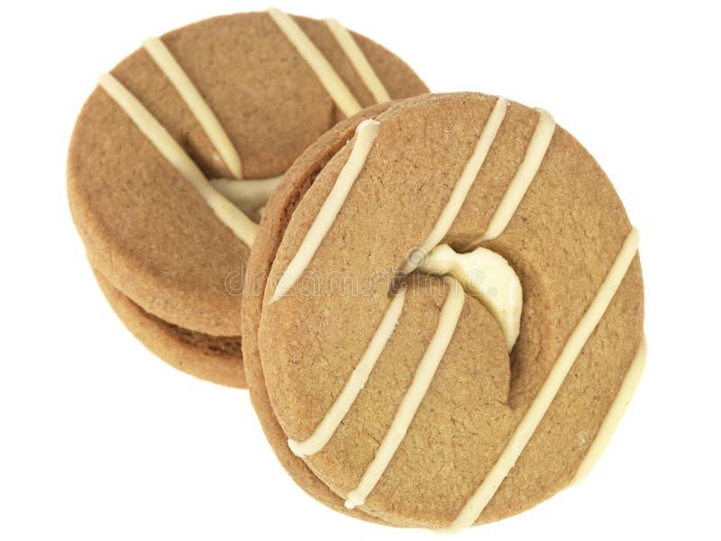 Biscoitos do Shortbread do gengibre e do limão fotos de stock royalty free