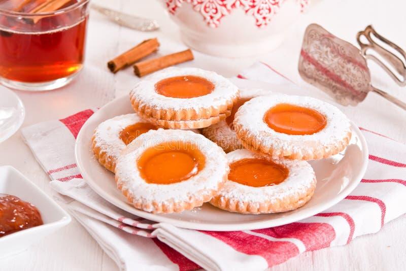 Biscoitos do Teatime foto de stock