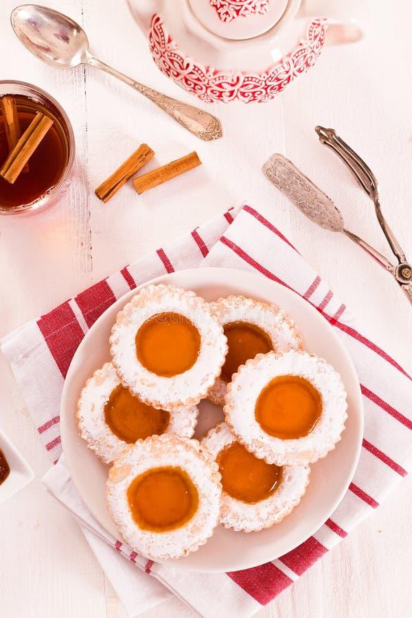 Biscoitos do Teatime imagem de stock royalty free