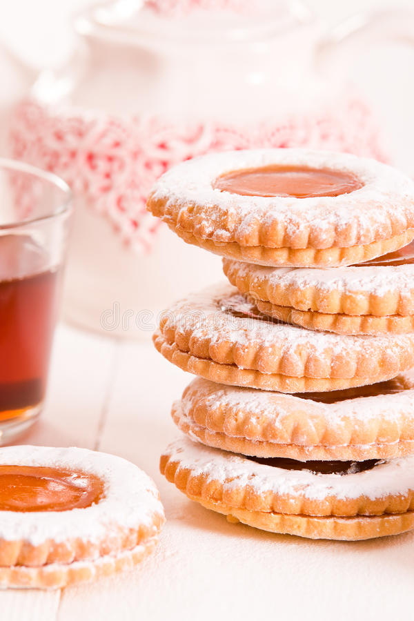 Biscoitos do Teatime foto de stock royalty free
