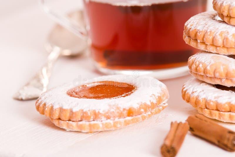 Biscoitos do Teatime imagens de stock royalty free