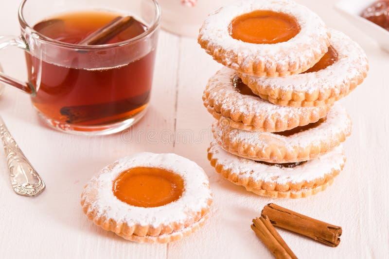 Biscoitos do Teatime imagem de stock