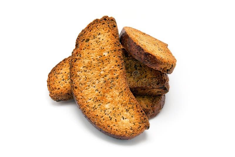 Biscoitos do trigo com sementes de papoila fotos de stock royalty free