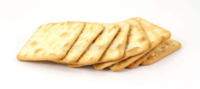 Biscoitos duros em uma fileira imagem de stock