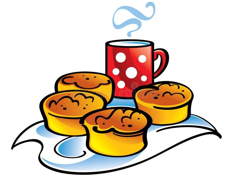 Biscoitos e leite ilustração royalty free