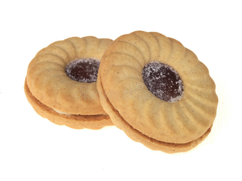 Biscoitos enchidos atolamento do anel fotos de stock royalty free