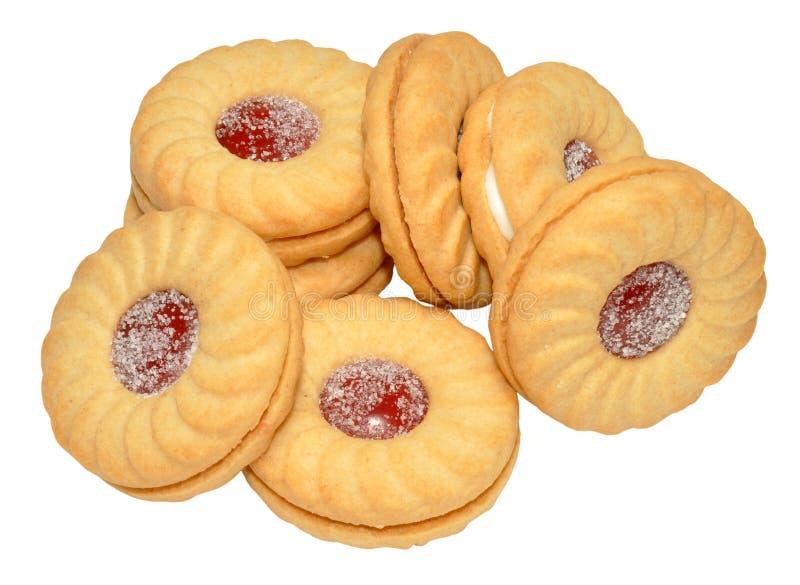 Biscoitos enchidos doce imagem de stock royalty free