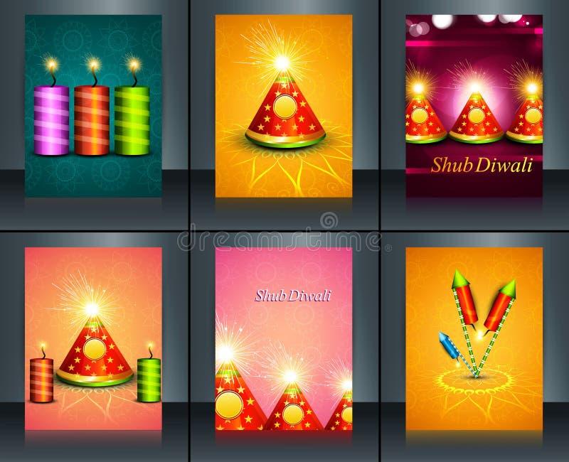 Biscoitos felizes do festival do diya de Diwali da decoração bonita ilustração do vetor
