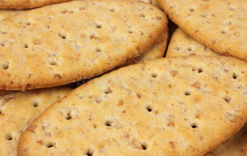 Biscoitos inteiros do trigo foto de stock