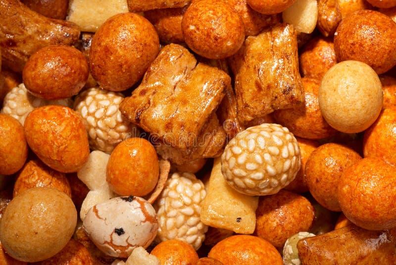 Biscoitos japoneses do arroz imagens de stock royalty free