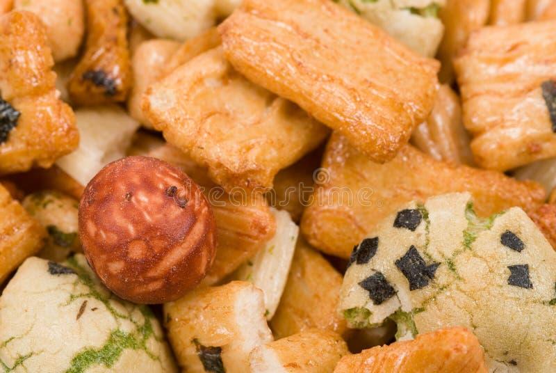 Biscoitos japoneses do arroz foto de stock royalty free