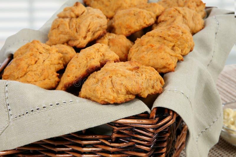 Biscoitos orgânicos da batata doce fotografia de stock