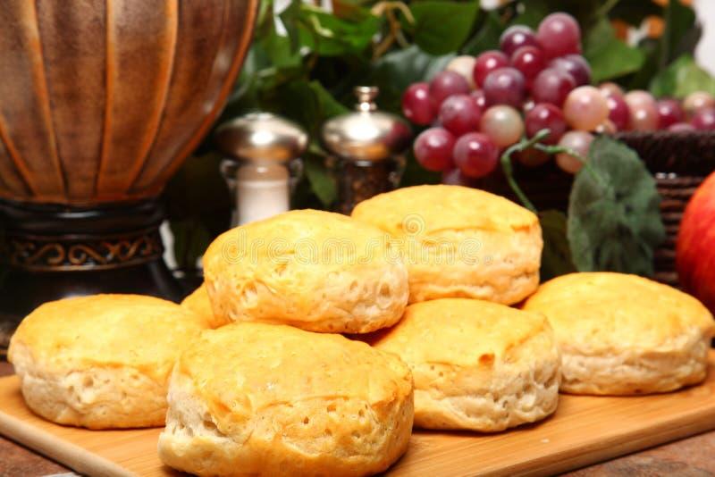 Biscoitos quentes do pequeno almoço foto de stock