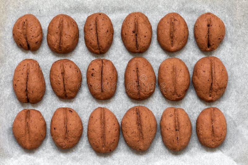 Biscotti al caffè, dolci al forno in casa immagine stock libera da diritti