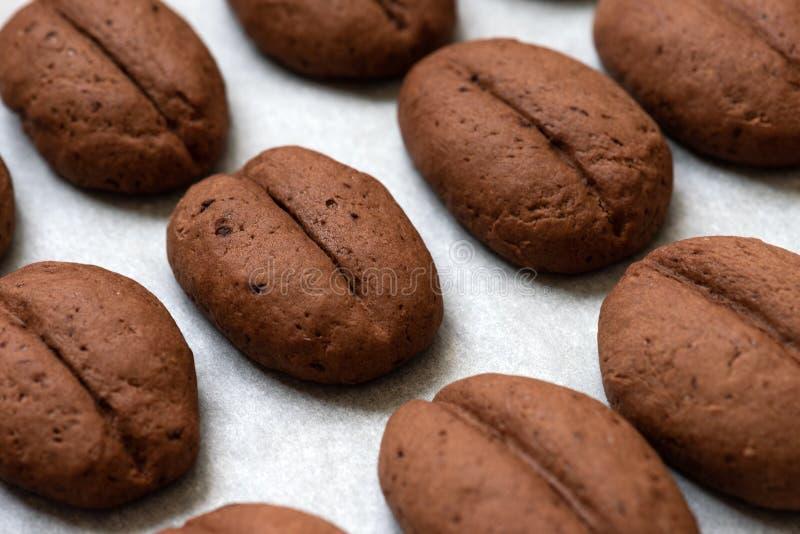 Biscotti al caffè, dolci al forno in casa fotografia stock
