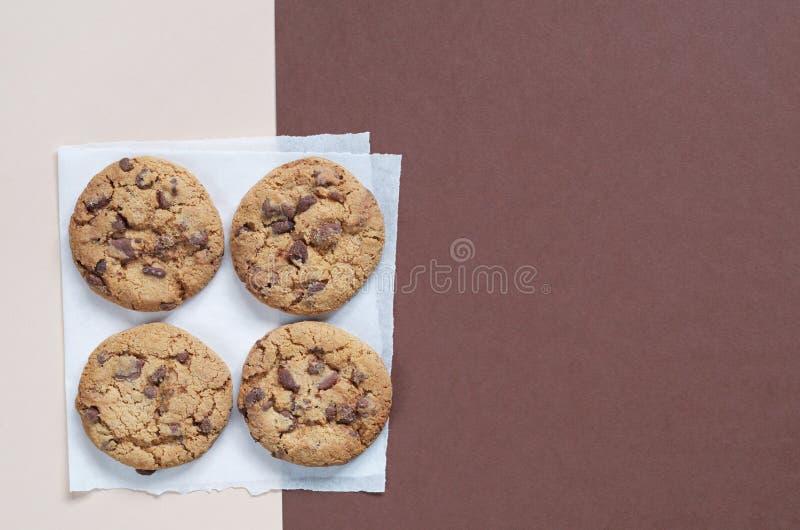 Biscotti al cioccolato yummy fotografia stock