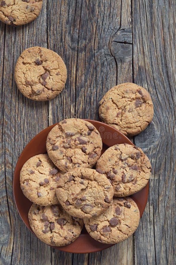 Biscotti al cioccolato yummy immagine stock libera da diritti
