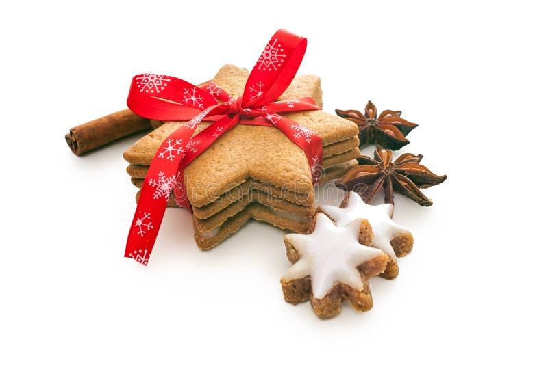 Biscotti al forno domestici di natale immagine stock