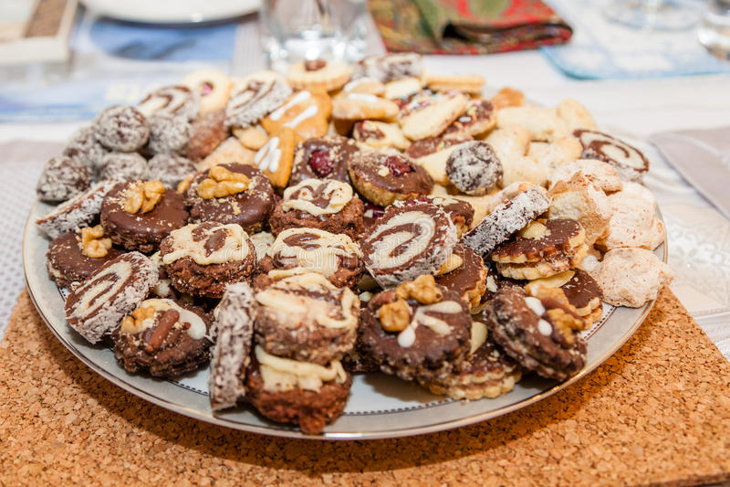 Biscotti assortiti fotografie stock