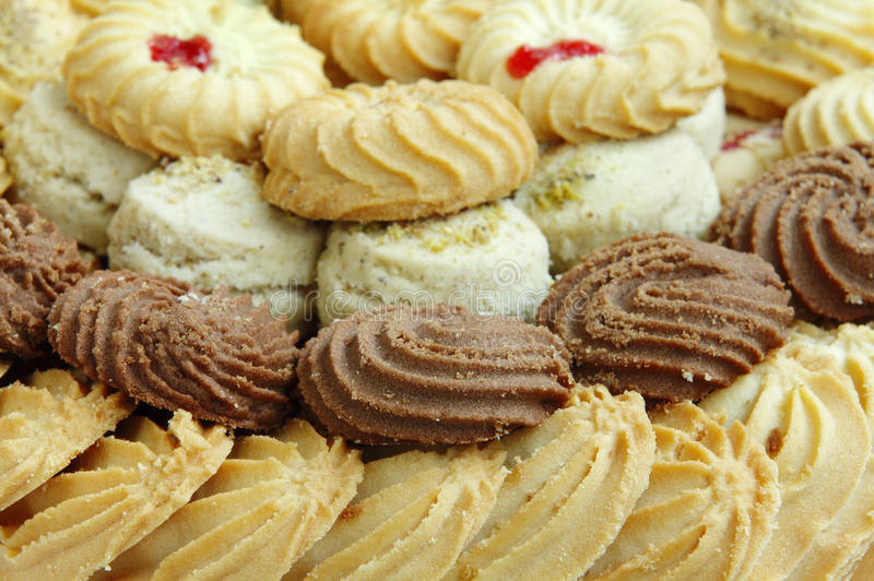 Biscotti assortiti e biscotti fotografia stock libera da diritti