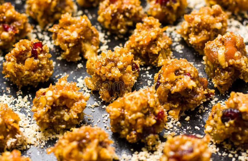 Biscotti casalinghi croccanti del dessert fotografia stock libera da diritti