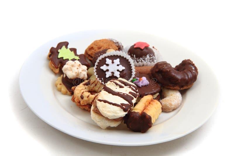 Biscotti casalinghi di natale (repubblica Ceca) fotografie stock