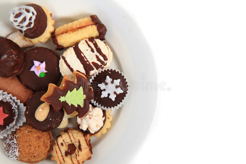 Biscotti casalinghi di natale (repubblica Ceca) fotografia stock