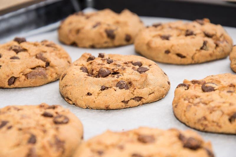 Biscotti casalinghi freschi su una piastra fotografia stock