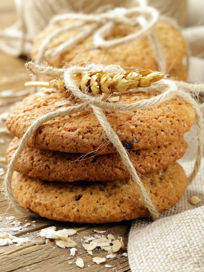 biscotti di farina d'avena casalinghi fotografia stock